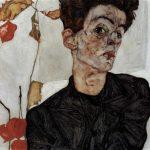 エゴン・シーレ 自画像 1912年